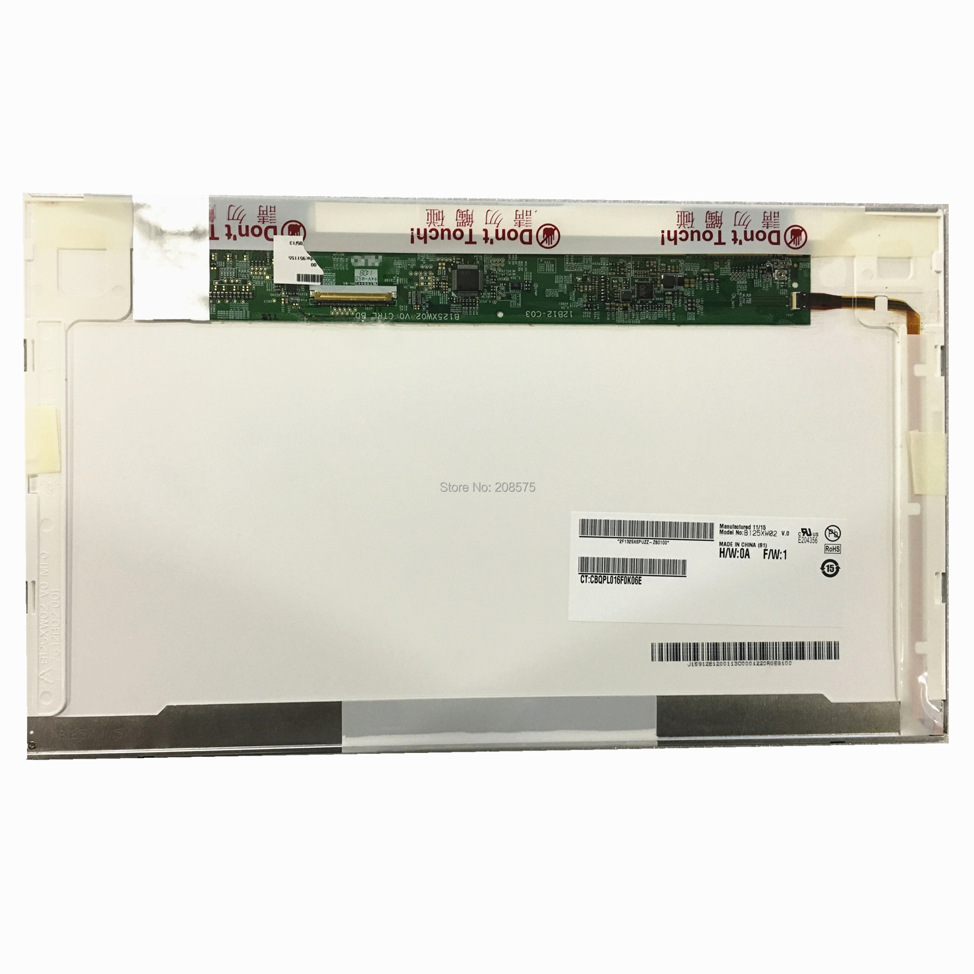 Free shipping B125XW02 V.0 LTN125AT02 LP125WH1 For <font><b>HP</b></font> 2560p <font><b>2570p</b></font> Laptop <font><b>Lcd</b></font> Screen 1366*768 40pin image