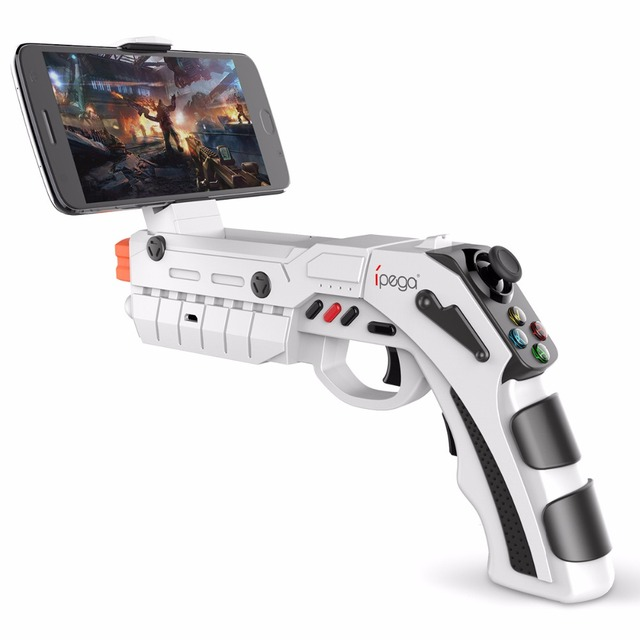 Moveski PG-9082 AR Gun Toy 3D Body Feeling Intelligence Pistol Controllers Bluetooth Game Handle for Android iOS iPhone