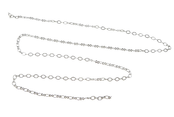 YYW New Punk Silver-color Brass Figure 8 Chain DIY Making for Bracelet Necklace figure-8 Chain 100 m Jewelry Accessories Chain figure print chain bag