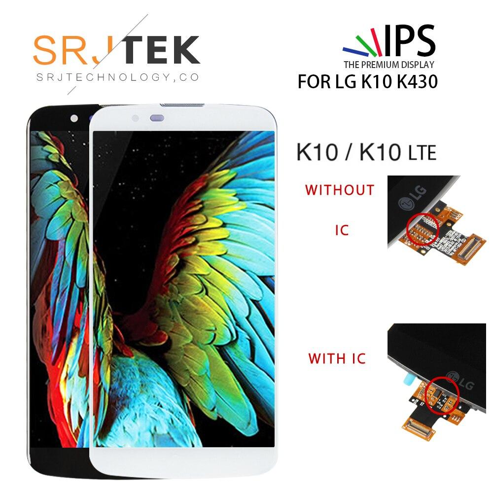 """Cep telefonları ve Telekomünikasyon Ürünleri'ten Cep Telefonu LCD'leri'de Orijinal 5.3 """"ekran LG K10 LCD ekran Digitizer meclisi ekran için K10 LCD K10 LTE K430 K430DS k420N 420N yedek title="""