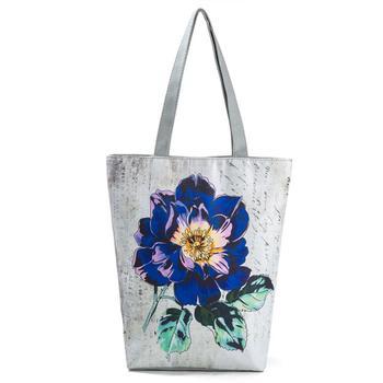 Miyahouse  Eco Reusable Foldable Women's Shoulder Shopping Bag Ladies Casual Tote Bag Female's Handbag With Large Capacity 3