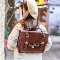 3way Japanese Uniform Bags Vintage England Preppy style Cute Bowknot School Students Backpack Shoulder Bag Messenger bag Female