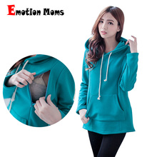 Emotion Moms New Winter pregnancy Maternity Clothes Nursing tops for Pregnant Women Breastfeeding Hoodie sweater Maternity