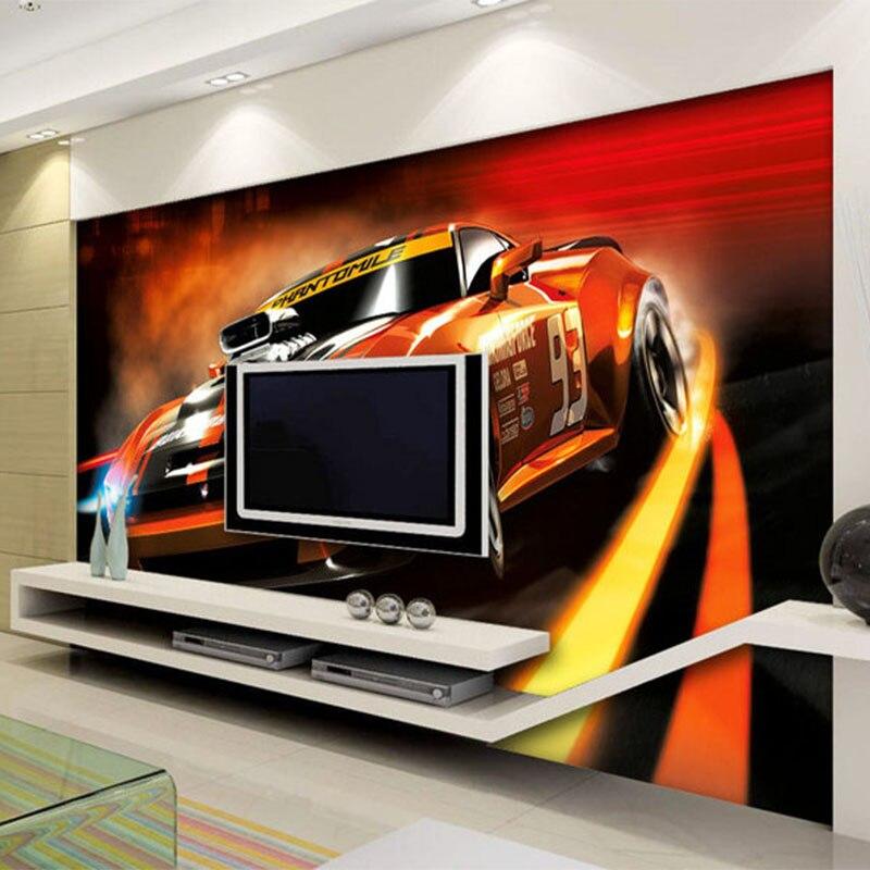 GroBartig Foto Tapete Moderne Kreative Gelb Sport Auto 3D Stereo Wandbild Wohnzimmer  Schlafzimmer Innen Design Tapeten Papel De Parede In Foto Tapete Moderne  Kreative ...