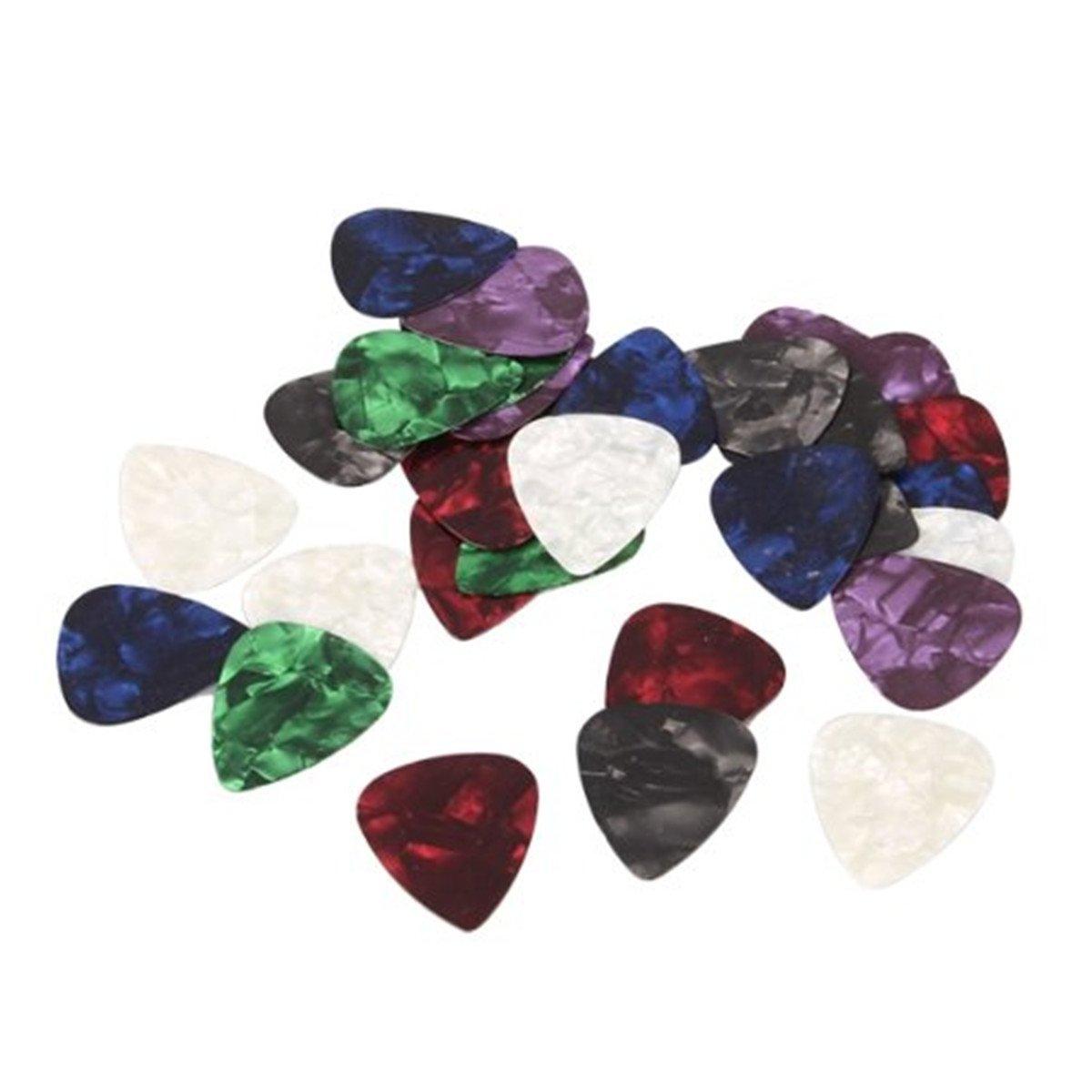10pcs Stylish Colorful Celluloid Guitar Picks Plectrums 0.71mm