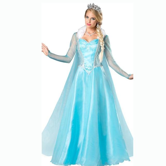 Evening dress Princess Anna Elsa Queen Girls Cosplay Costume Party Formal Dress Queen Dress Halloween Masquerade Costume Fairy