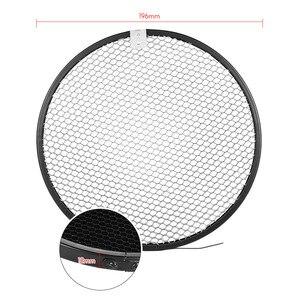 Image 3 - Abat jour de diffuseur de réflecteur de bâti delinchrom de 210mm avec des grilles de nid dabeilles de 10/30/50 degrés pour le Flash Flash de stroboscope Speedlite