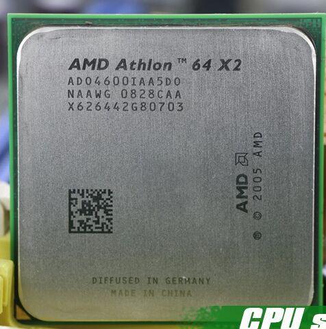 AMD Athlon 64X2 4600 + 2.4 GHz Dual-Core Socket AM2 CPU De Bureau Processeur Testé travail scrattered pièces