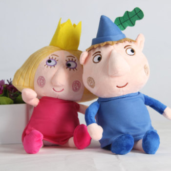 цена на 2pcs 30cm Ben and Holly Plush Toys Cartoon Ben Holly Figures Dolls Kids Birthday Christmas Gift