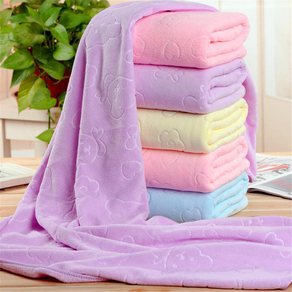 Kidlove Baby Newborn Blankets Bath Gauze Nano Microfiber Quick-drying Embossed Beach Towel Bath Nursing Towel