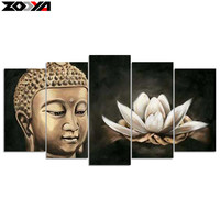 Zhui Star 5d Diy Diamond Embroidery Buddha Lotus Diamond Painting Cross Stitch Rhinestone Mosaic Multi Picture