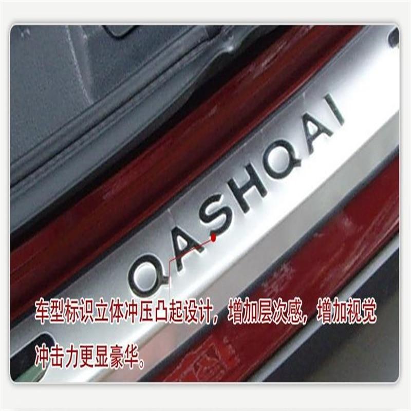 Accessoires de voiture pour Nissan Qashqai 2007-2012 2013 extérieur en acier coffre arrière pare-chocs porte seuils seuil plaque protecteur garnitures 1 pièces - 4