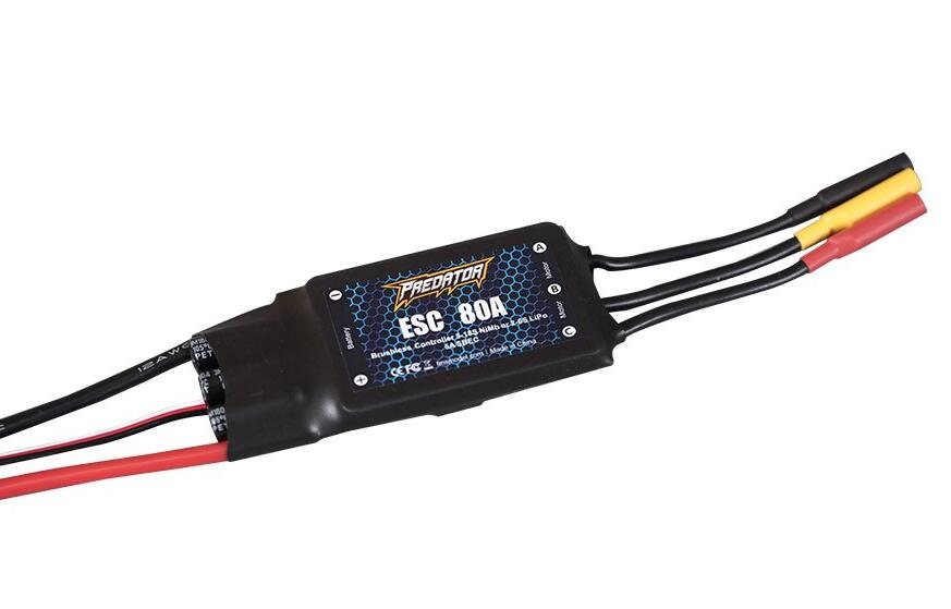 цена на 1PC FMS Predator 80A ESC Brushless Motor Electronic Speed Controller Upgraded 5V 5A Switch Mode BEC For FPV RC Model Parts