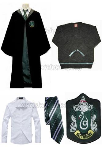 Draco Cosplay Spedizione Serpeverde Harry Robe Malfoy Gratuita qqzt6