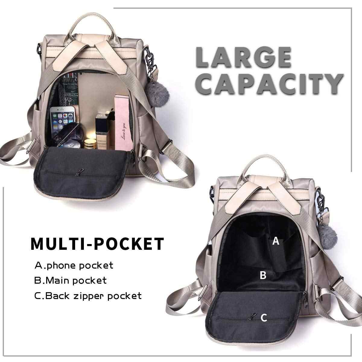 56a85d9dbb0 Women Backpack Purse Waterproof Anti-theft Rucksack Lightweight School  Shoulder Bag