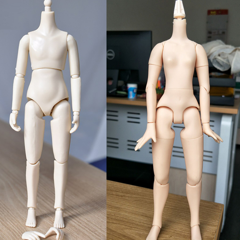 1/6 KUMIK Small Girl Yellow/Boy White Juniores Female/Male Body Little Action Figure 6 inches Doll DIY Model Toys for Seamless