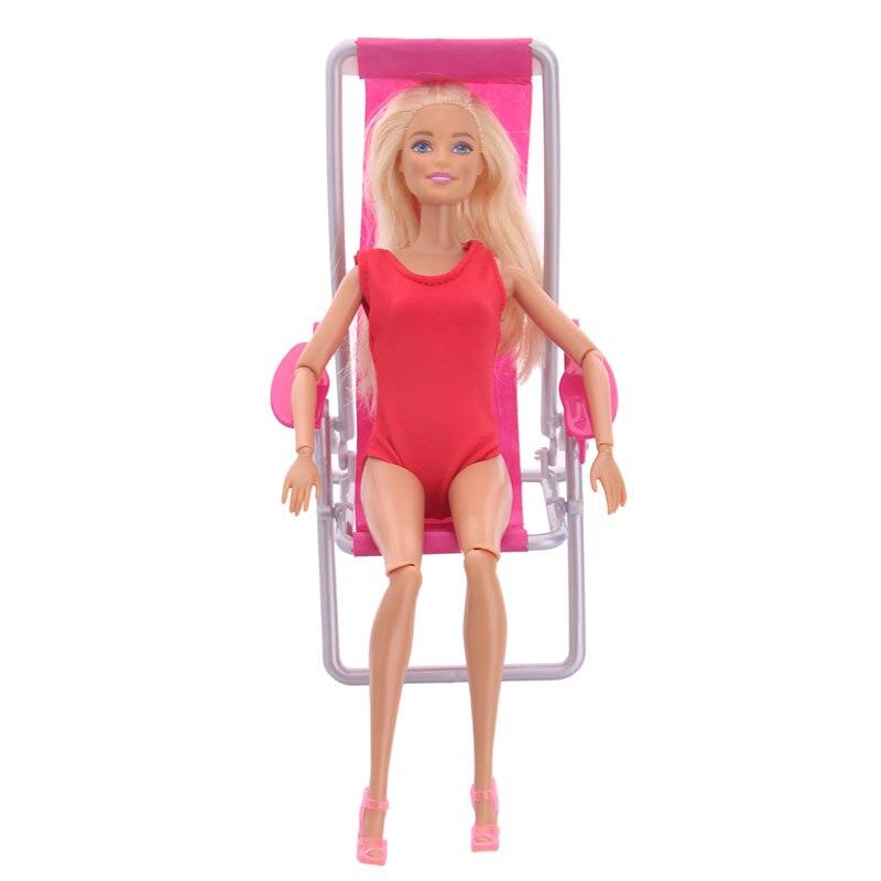 Fleta Handmade Mini Beach Chair For 28cm Doll DIY Accessories Kids Gift