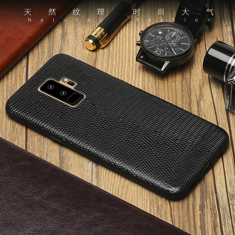 Genuine leather Phone case For Samsung S9 Plus csae Lizard skin texture back cover For S7 S8 A3 A5 A7 A8 J3 J5 J7 2017 cases