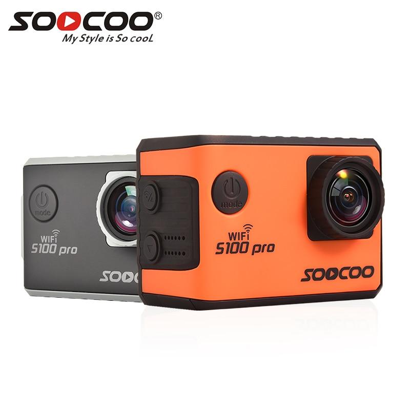 ES RU Entrega Local: SOOCOO S100 Pro Voz ControlWifi 4 K Action Camera 2.0 Tela Sensível Ao Toque com Gyro e Controle Remoto 20MP s100pro