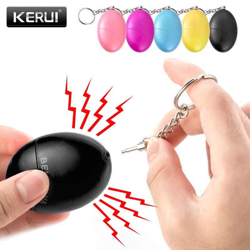 KERUI Самозащита сигнализация 120dB яйцо форма девушка женщины Безопасность Защита предупреждение Личная безопасность крик громкий брелок Ава...