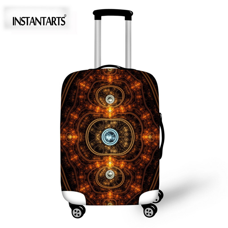 INSTANTARTS Travel Suitcase Protective Covers For 18/22/26/28/30 Inch Cases Thick Elastic Spandex Luggage Cover Dust Rain Cases