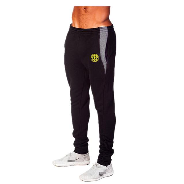 Mens Joggers Pantalones de marca Pantalones de Algodón de Fitness y Culturismo Golds ropa Fuera de Las puertas Armarios Pantalones Flacos