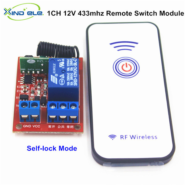 12v 1 channel 1ch rf wireless remote control switch receiver relay