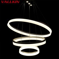 Luxury Acrylic LED Round Chandeliers Modern Kitchen Lamparas De Techo Home Lighting Suspension Luminaire Lights CE