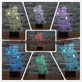 3D Homem De Ferro Dos Desenhos Animados Caráter Candeeiro de Mesa Luminaria LEVOU RC Luzes da noite luz Decorativa quarto das Crianças dos miúdos presente para criança menino