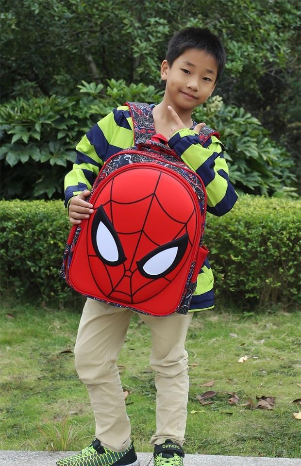 3D Spiderman Kids Primary School Backpack Boys Cartoon Spider Man Kindergarten Student Backpack Daypack Popular (7)