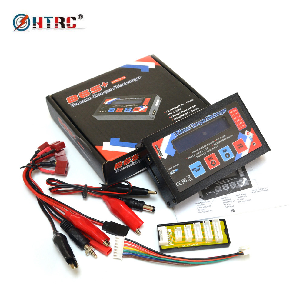 HTRC B6S+ 50W 5A RC Balance Charger Discharger B6 S+ for 1-6s LiPo/ Li-Ion/ Li-Fe Battery ocday 1set imax b6 lipo nimh li ion ni cd rc battery balance digital charger discharger new sale