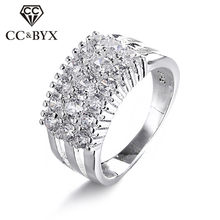 Fashion Jewelry Size 9 10 Big Rings for Women Mid Finger 925 Sterling-silver Jewelry Punk Party Ring Bijuteria Anel CC019(China)