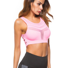 3 Colors New Sporting Women's Ftiness Bras Shockproof Breathable Stretch Mesh Top Fitness Padded Bras For Women Workout Bra цена