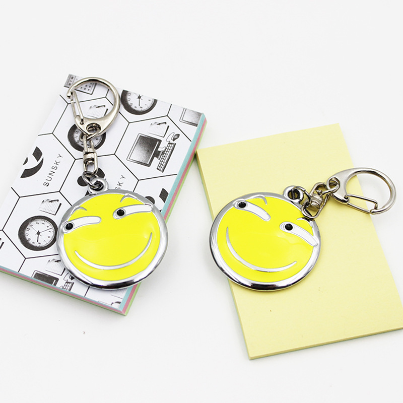 Emoji Funny Expression Pendant Keychains keyring Car Bag Buckle Charm Key Ring Best Gift For Friends