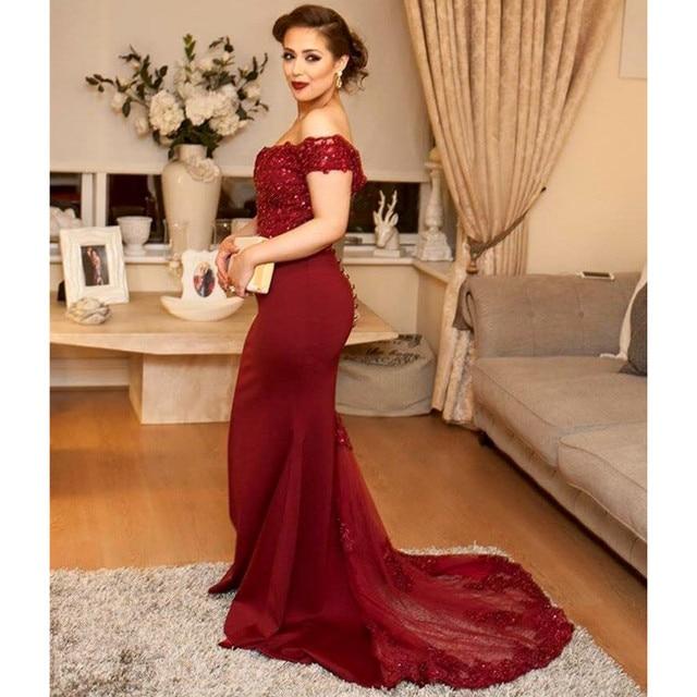 acbb5e2219 Vestido Vermelho longo 2017 Novo Sexy Com Decote Em V Off The Shoulder luxo  Apliques de