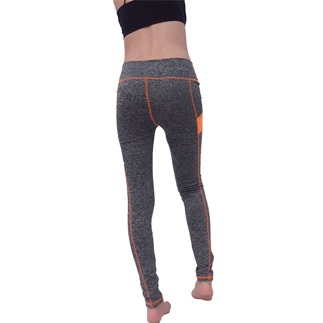 Women's Yoga Pants Orange Patch High-waisted Quick Dry Outfit Legging activewear Fitness