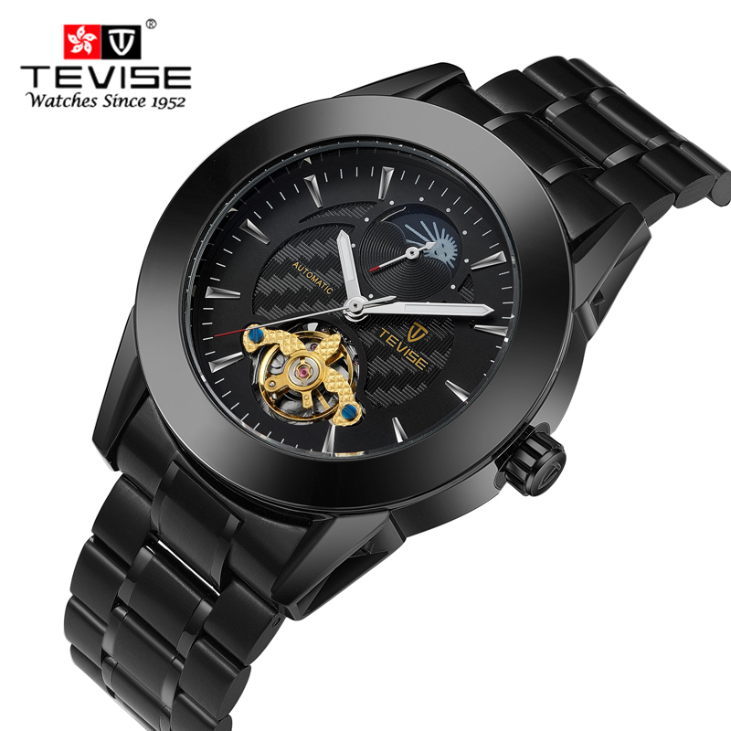 TEVISE Fashion Men Watch Men Brand Automatic Mechanical Wrist Stainless Steel Wristwatch Male Clock Relogio Masculino Hodinky fashion top brand watch men automatic mechanical wristwatch stainless steel waterproof luminous male clock relogio masculino 46