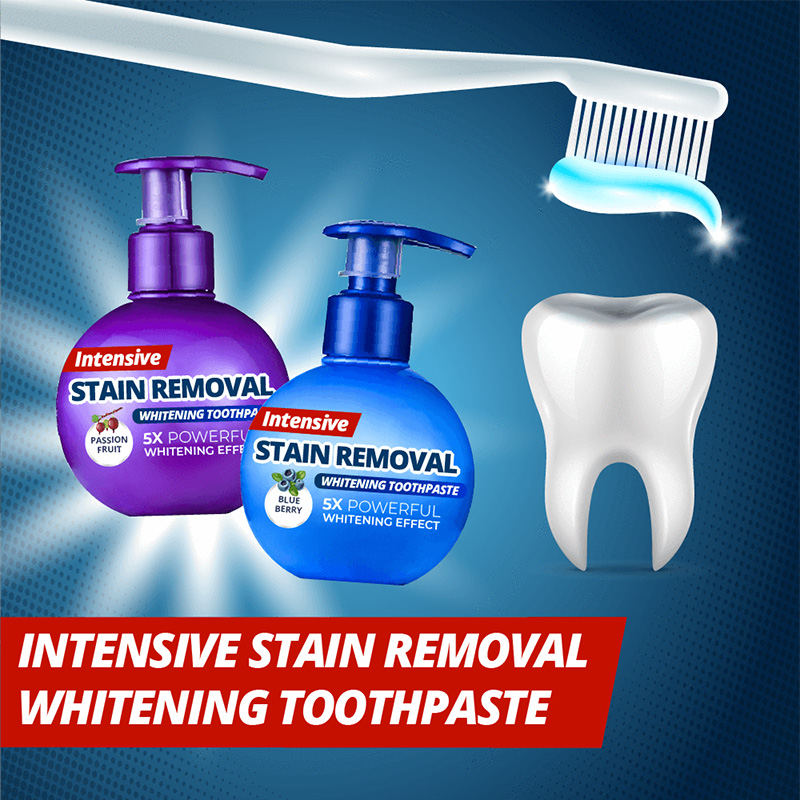 Intensive Stain Removal Whitening Toothpaste Teeth Whitening Cleaning Oral Care Magical Baking Soda Toothpaste Drop Shipping