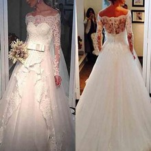 Alexzendra Wedding Dresses for Long Sleeves Bride Dresses
