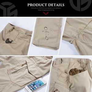 Image 5 - IX9 Men Tactical Pants Combat Cargo Army Zipper 9 Pocket Flexible Casual Cotton Trousers Black Active waterproof Military Pants