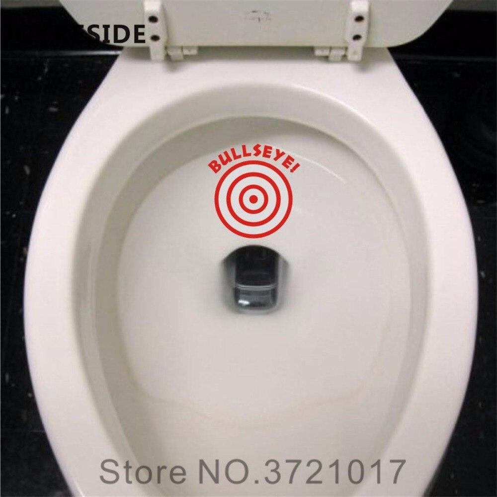 JOYRESIDE Bullseye Target Aiming Restroom Bathroom Seat Toilet tank Wall Decal Vinyl Sticker Decor Art Removable Design XY099