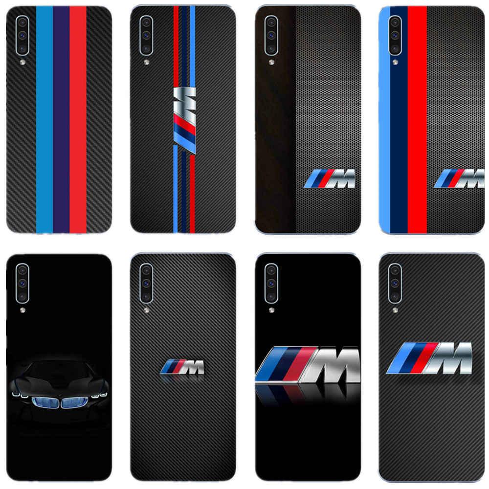 Marca esportiva de luxo BMW macio TPU tampa do telefone Para samsung galaxy S6 S7 S8 S9 S10PLUS S10Lite A750 2018