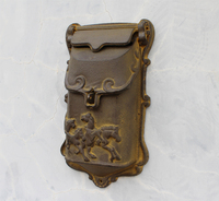 Vintage Brass Cast Iron Mailbox Postbox Mail Box Wall Mounted Wrought Iron Letters Box Metal Garden
