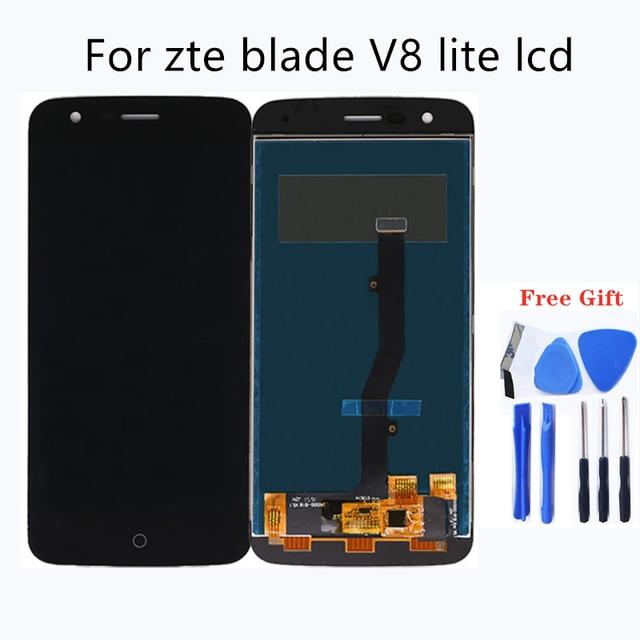 "5.0 ""עבור ZTE להב V8 לייט LCD תצוגת מסך מגע digitizer זכוכית עצרת החלפת לzte להב V8 לייט LCD ערכת תיקון"