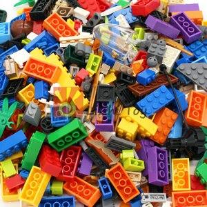 Image 1 - Ważenie zestaw klocków posiłek DIY kreatywny luzem cegły zabawki dla dzieci klocki edukacyjne dla dzieci prezent na boże narodzenie losowo 500g