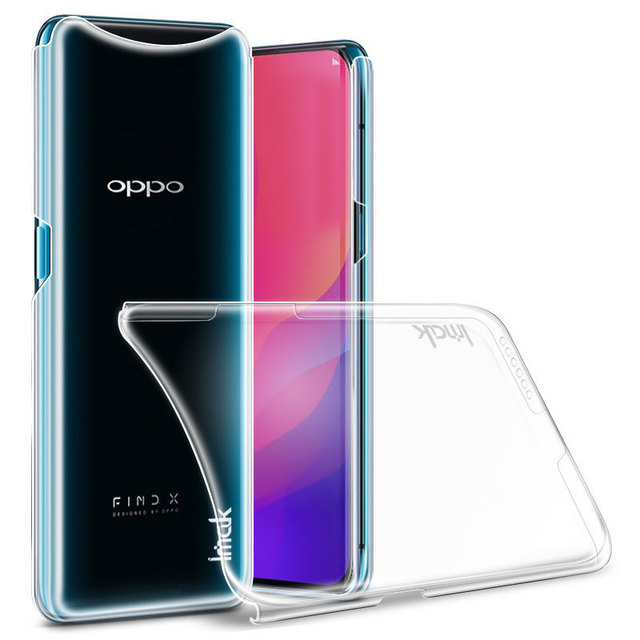 newest 54d34 2ab69 US $4.74 5% OFF|OPPO Find X Case IMAK Crystal Series Transparent Hard PC  Back Cover Case For OPPO Find X -in Fitted Cases from Cellphones & ...