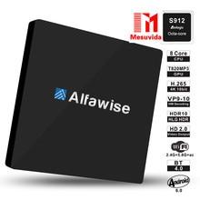 Mesuvida Alfawise S92 Amlogic TV Box Android 6.0 OS S912 octa-core Set-top Box 2.4G + 5.8G Podwójny Wifi BT 4.0 Odtwarzacz multimedialny