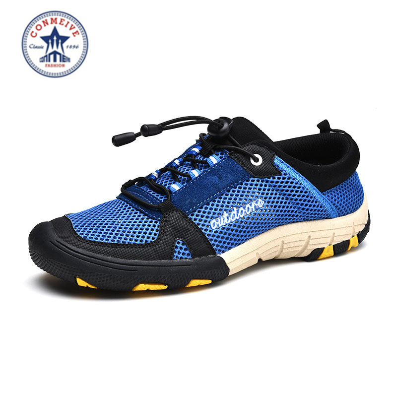 Wandelschoenen Arrival Medium (b, m) New Lightweight Outdoor Shoes Heren Aqua Quick Dring Ademend Wandelen Trekking Freeshipping