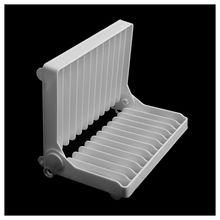 Foldable Plate Dish Drying Organizer Rack Drainer Plastic Storage Holder Kitchen-White