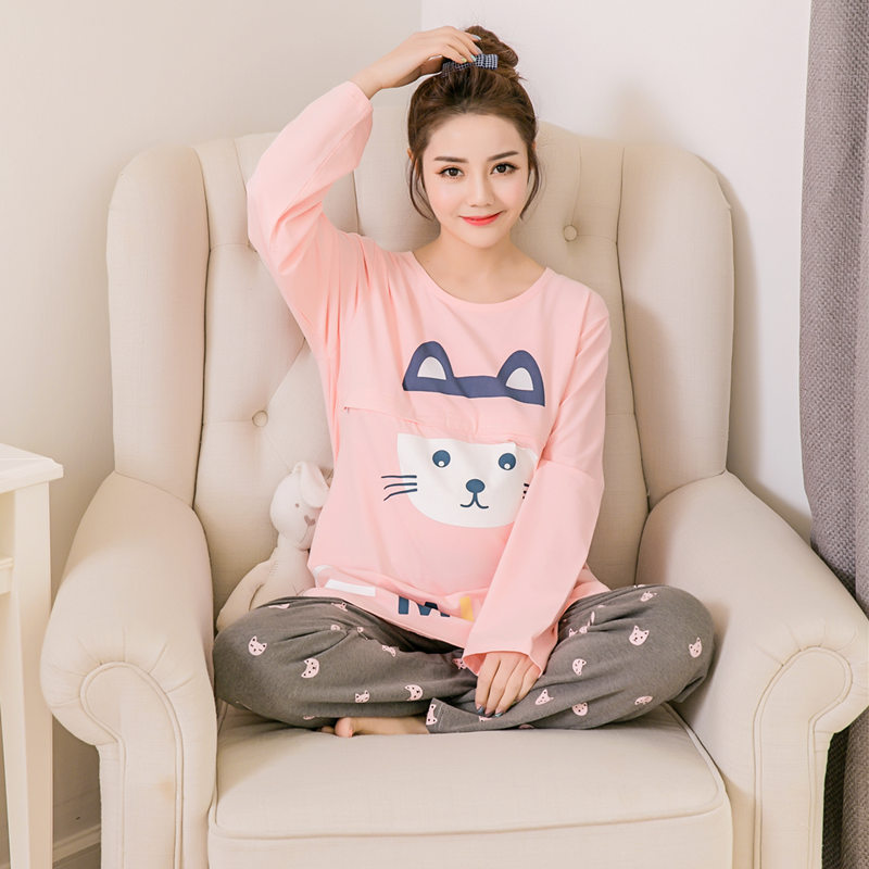 Autumn and winter maternity suits postpartum nursing cotton home clothing causual pajamas for pregnant women pregnancy clothes hot sale great deal maternity binding body shaping postpartum staylace maternity supplies abdomen waist belt pregnant panties n